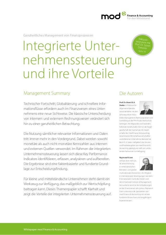 Management Summary Technischer Fortschritt, Globalisierung und schnellere Infor- mationsflüsse erfordern auch im Finanzwes...