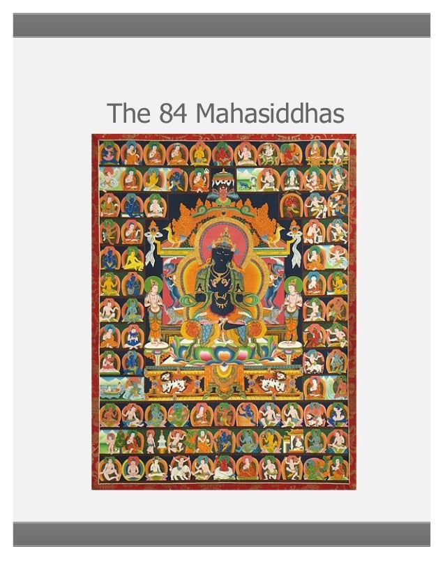 84 mahassidhas in english