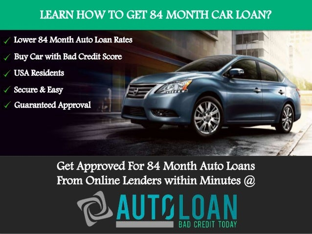 Used car loan interest rates 84 months 13