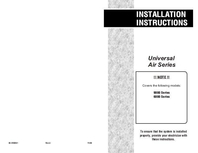 85 0100 b-1-rev 3_generic air installation