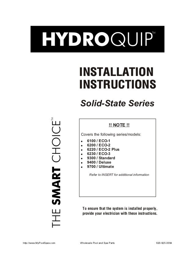 INSTALLATION                            INSTRUCTIONS                            Solid-State Series                        ...