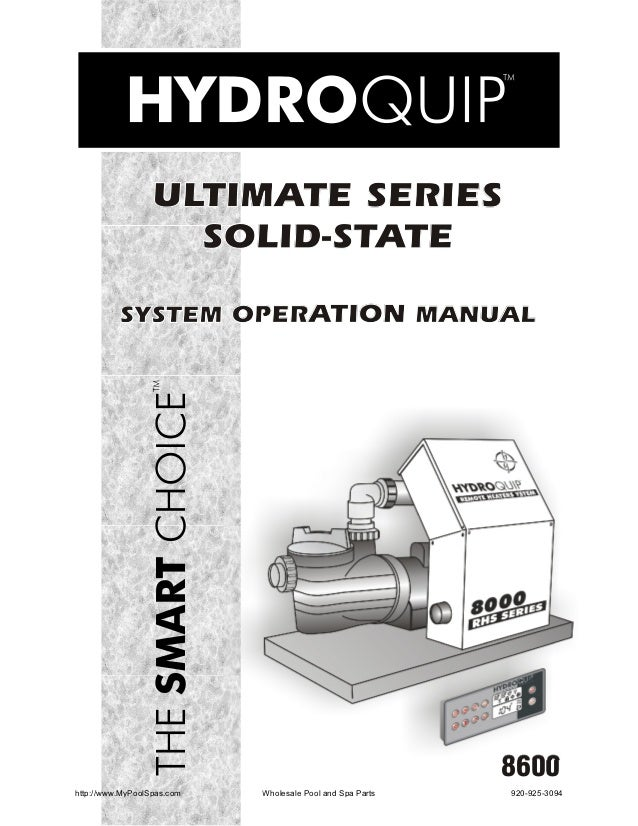 ULTIMATE SERIES                    SOLID-STATE          SYSTEM OPERATION MANUAL                                           ...