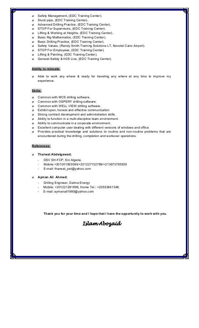 islam abozaid cv  u0026 cover letter  algeria