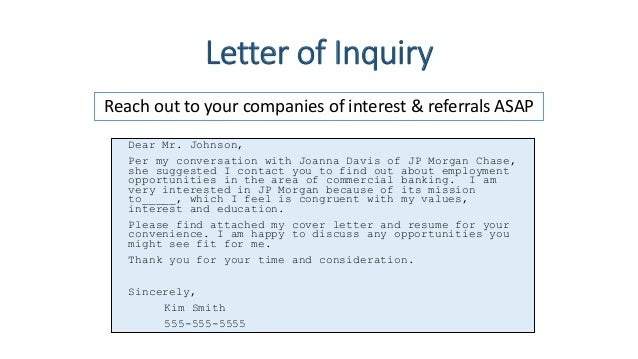 jena   job search workshopsincerely  kim smith     letter of inquiry