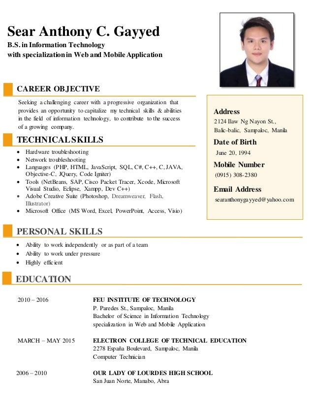 resume gayyed