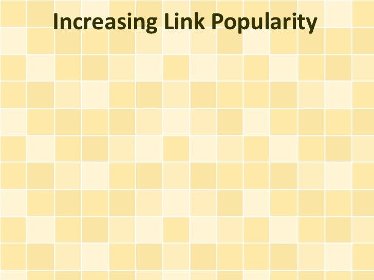 Increasing Link Popularity