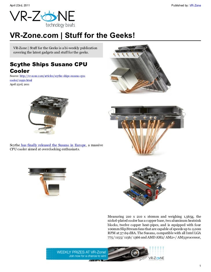 VR-Zone Technology News | Stuff for the Geeks! Issue #23