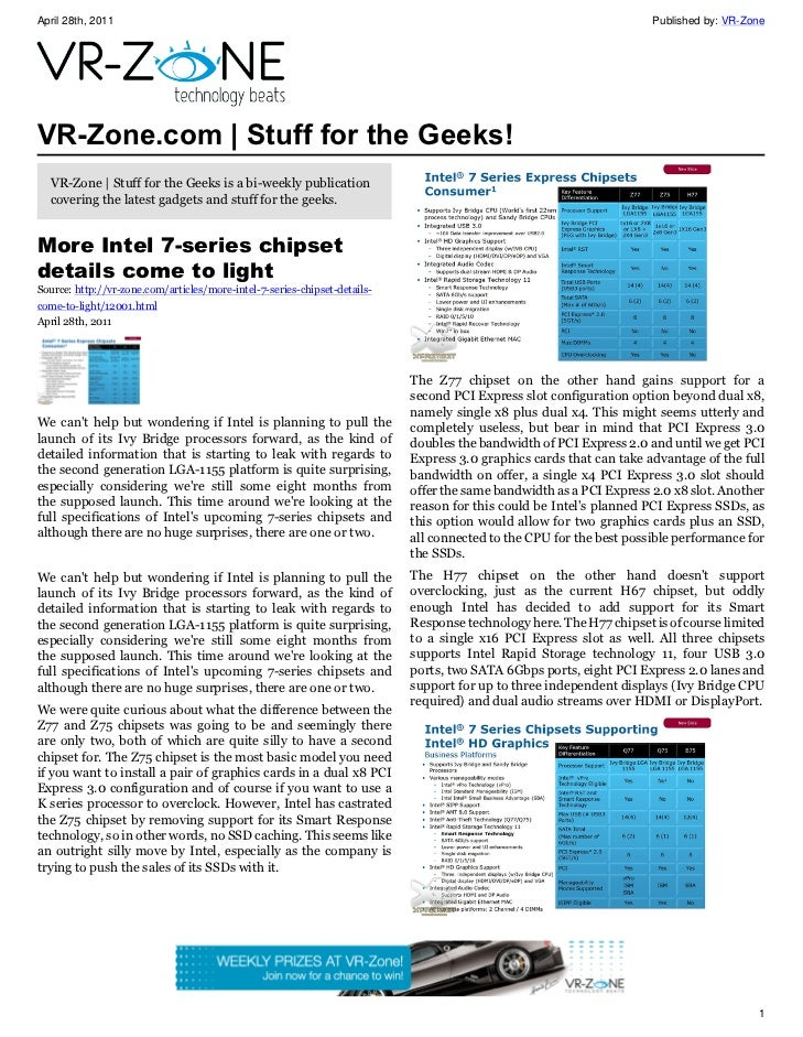 VR-Zone Technology News | Stuff for the Geeks! Issue #25