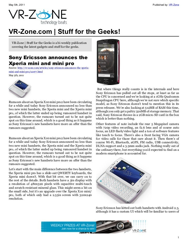 VR-Zone Technology News | Stuff for the Geeks! Issue #27