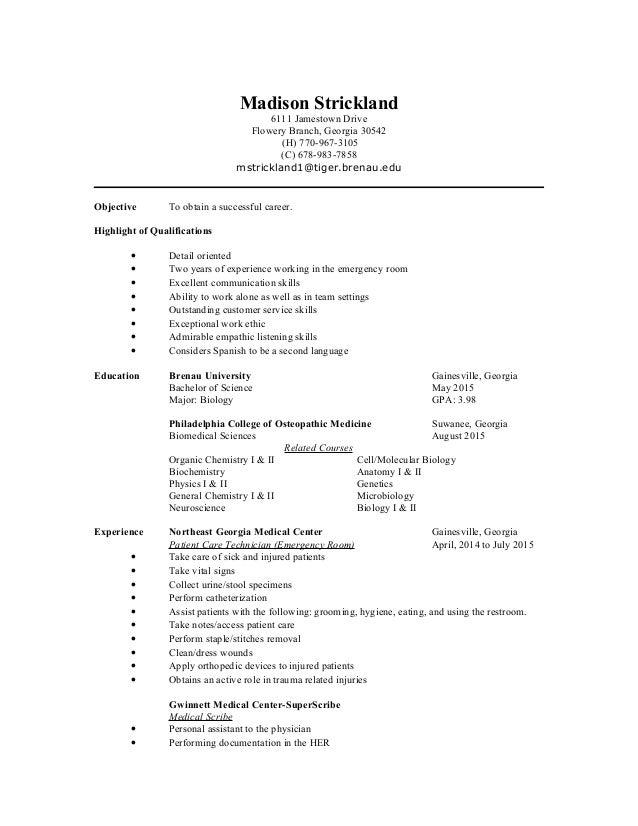 resume pa school scribe