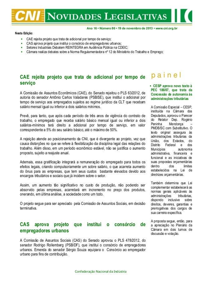 Novidades Legislativas Nº86 | 19/11/2013