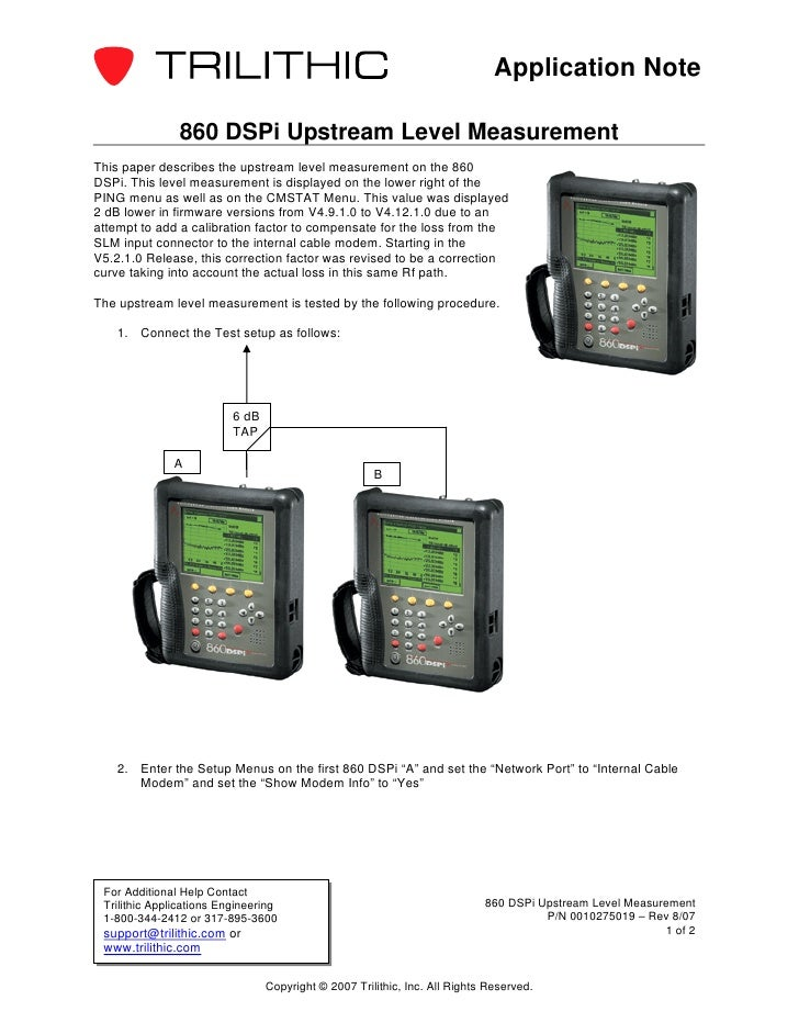 860 dspi upstream_level_measurement_appnote