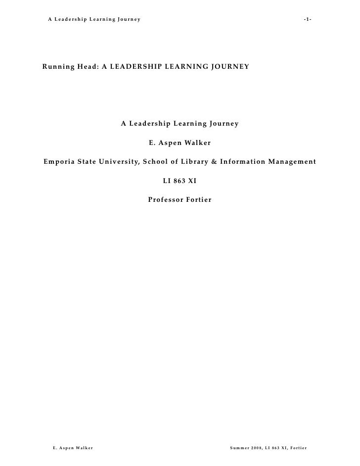 A Leadership Learning Journey                                                                       ‐1‐                   ...