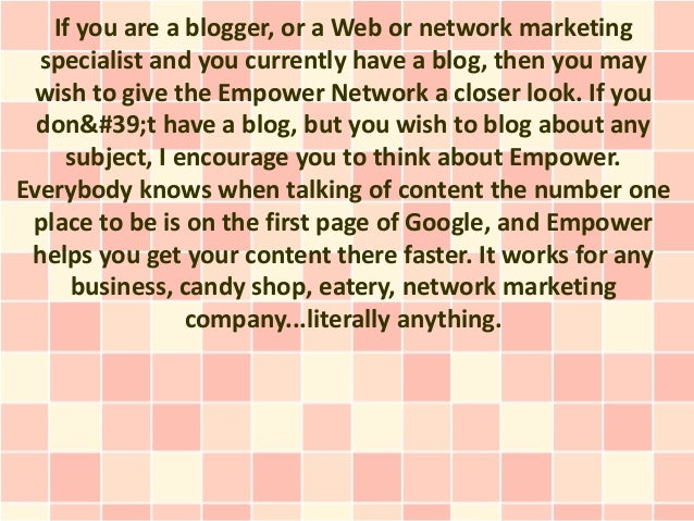 If you are a blogger, or a Web or network marketing  specialist and you currently have a blog, then you may  wish to give ...