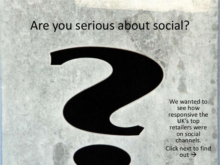 Serious about social?