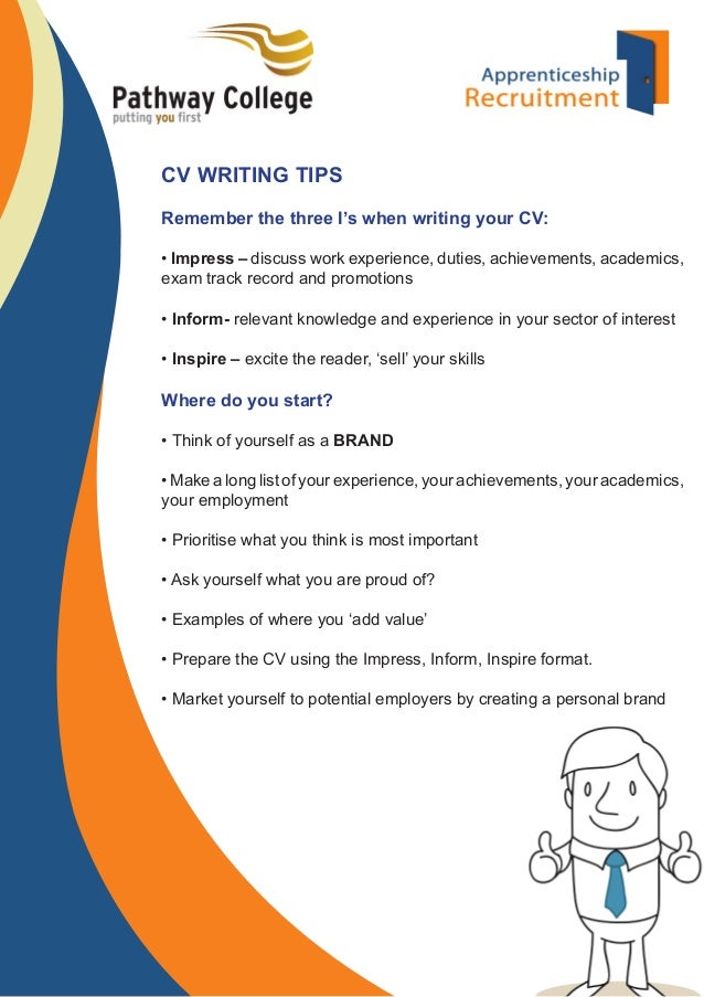 top tips for cv writing