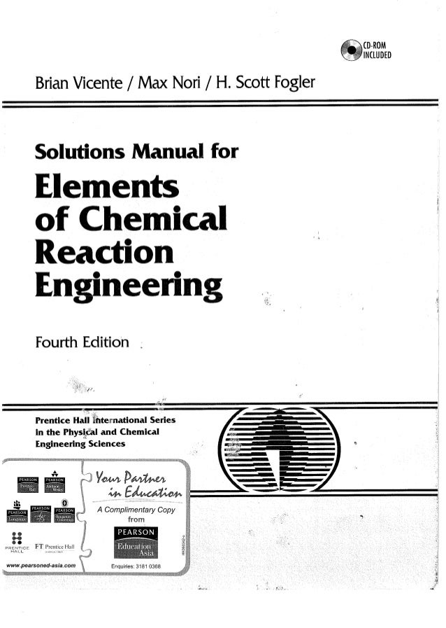 elements of chemical reaction engineering 4th edition pdf download