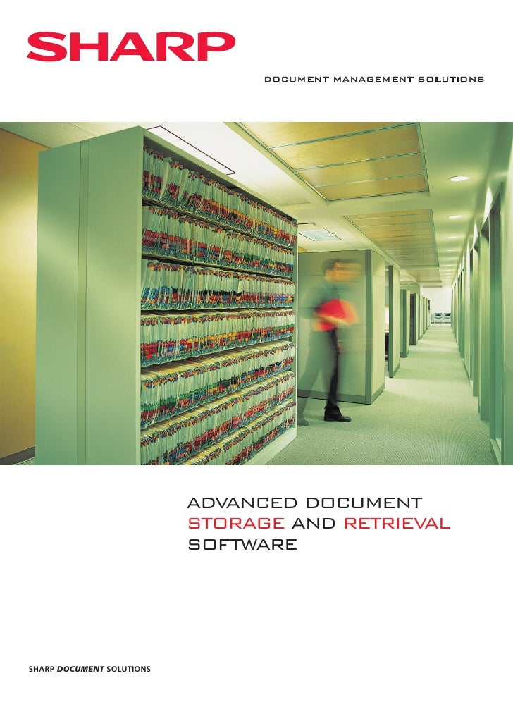 DOCUMENT MANAGEMENT SOLUTIONS                           ADVANCED DOCUMENT                           STORAGE AND RETRIEVAL ...