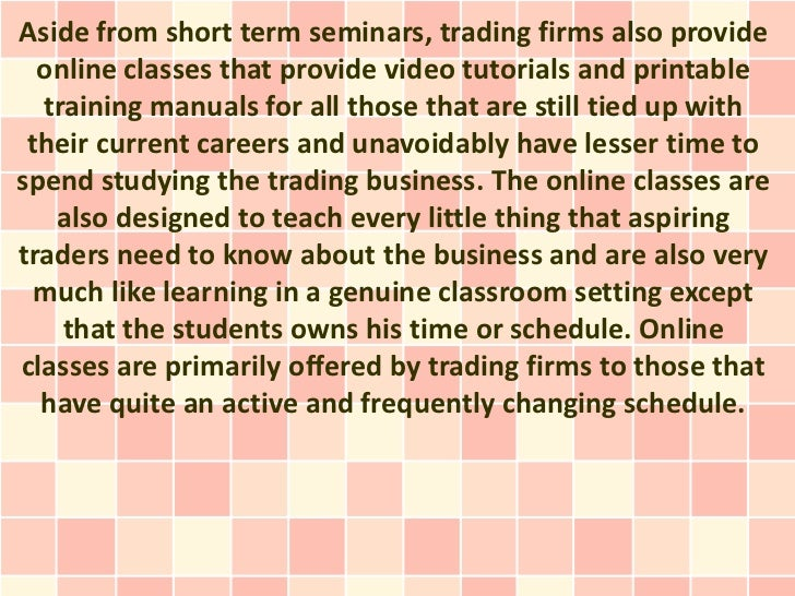 Online courses for options trading