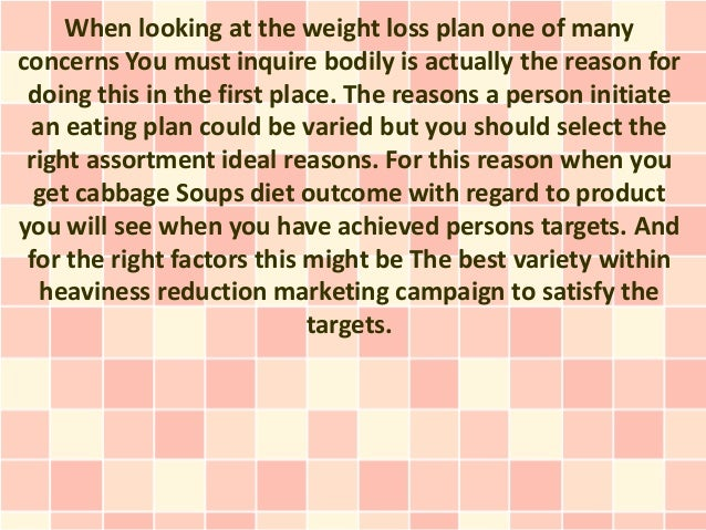 Cabbage Soup eating habits pros and cons