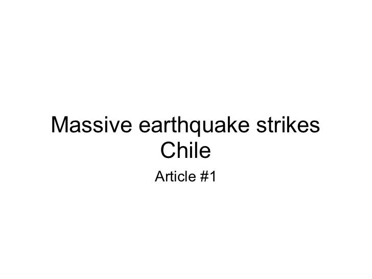 Massive earthquake strikes Chile