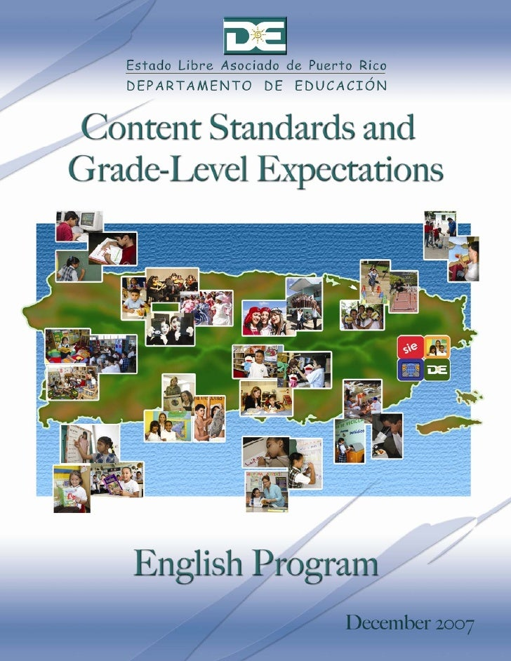 Content Standards and     Grade-Level    Expectations      English Program           2007