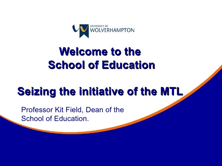 Seizing the initiative of the MTL - Keynote at the TTRB Seminar at the University of Wolverhampton