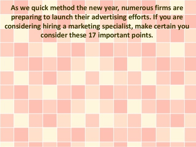 17 Points To consider Before You Employ A Marketing Consultant
