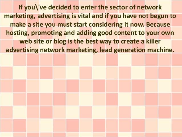 Advertising Network Marketing Effectively