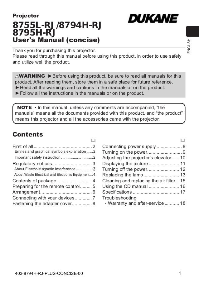 8794 h rj-Concise User Guide