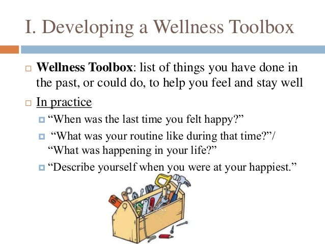 developing a wellness toolbox wellness toolbox list of things