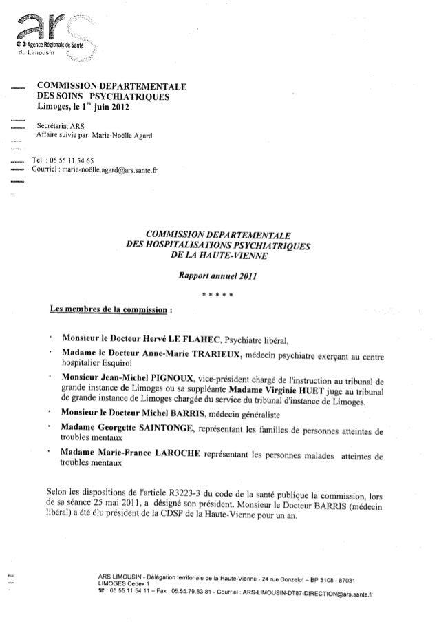 87 rapport activité cdsp 2011
