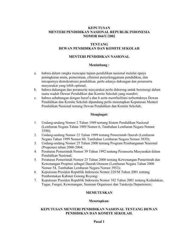 88072065 kepmendiknas-no-044-u-2002-tentang-dewan-pendidikan-dan-komite-sekolah-1