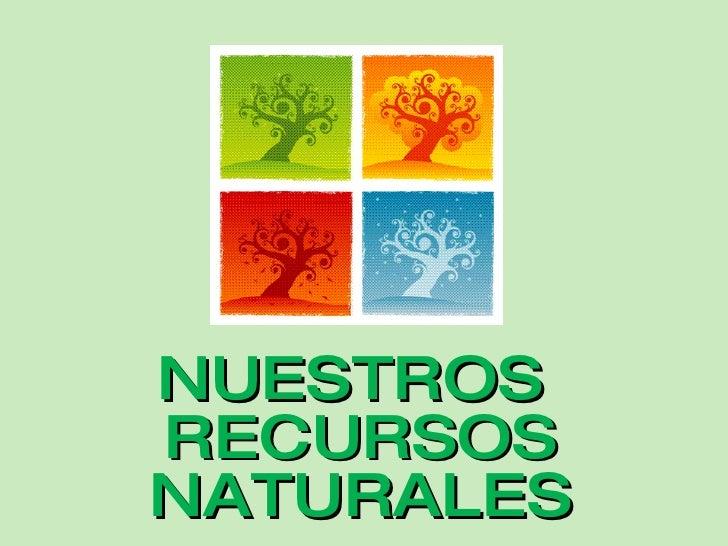 <ul><li>NUESTROS RECURSOS NATURALES </li></ul>