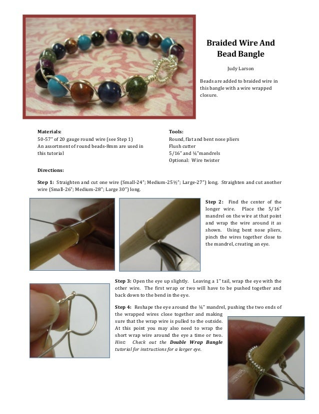Easy Wire and Bead Braided Bracelet Tutorial
