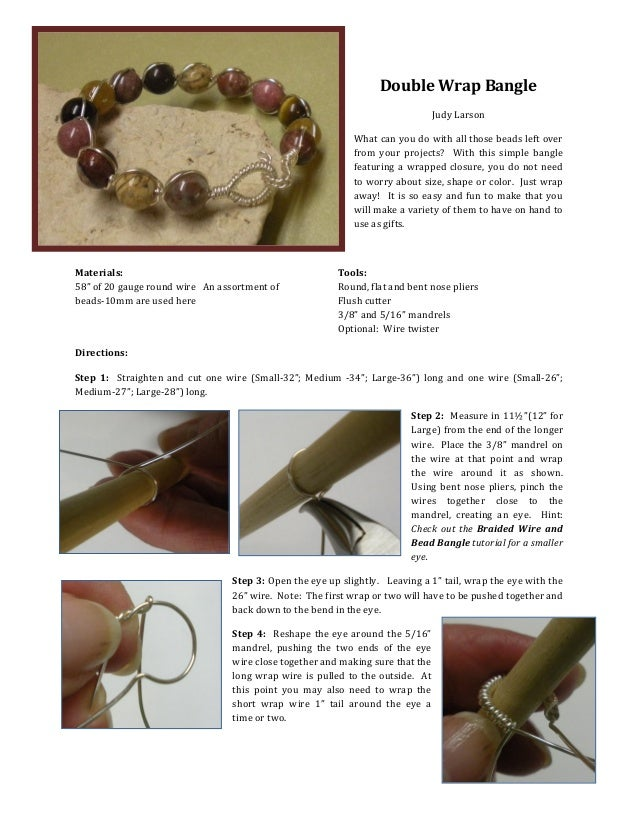 Double Wrap Wire Bangle Bracelet Tutorial