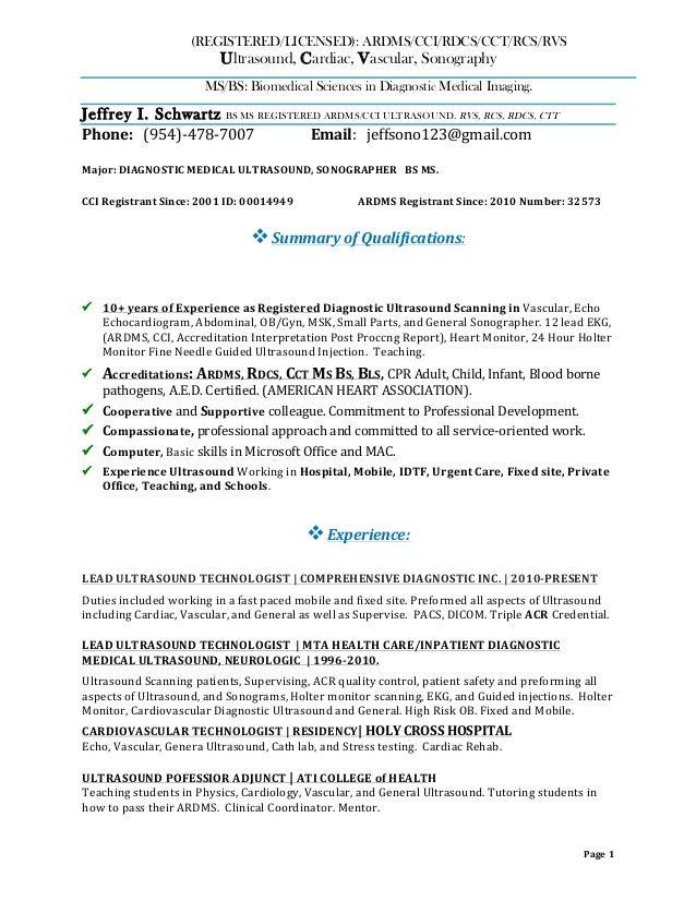 Vascular Technologist Cover Letter