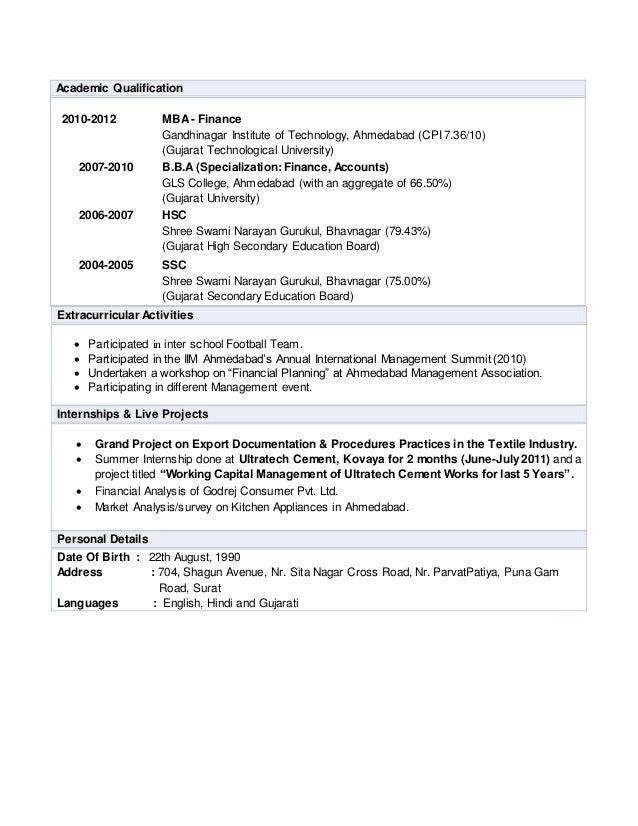 milan mashru resume