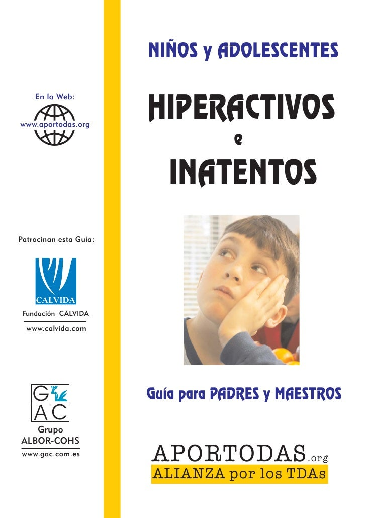 Guia para padres niños hiperactivos