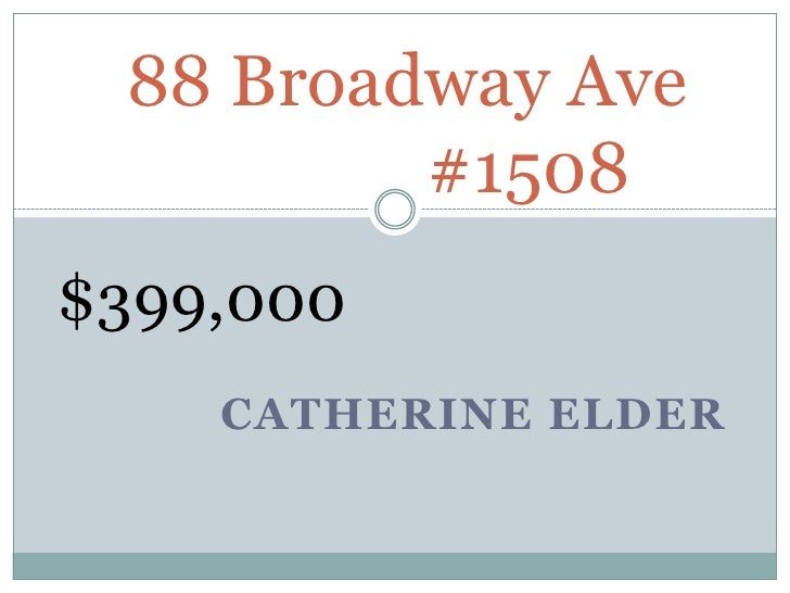 88 broadway ave presentation