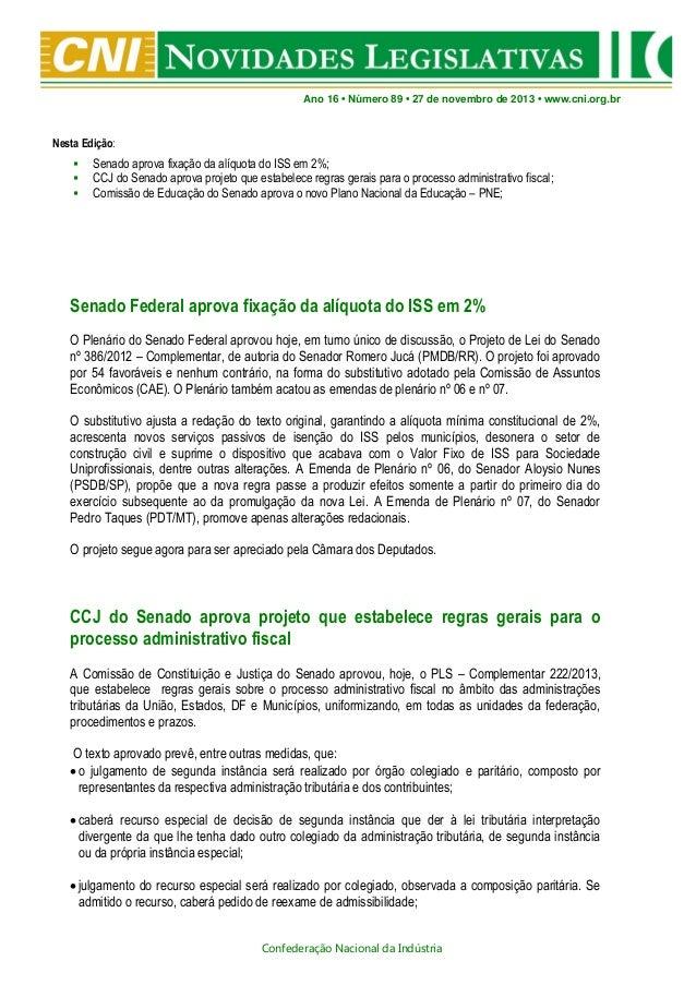 Novidades Legislativas Nº 89 | 27/11/2013