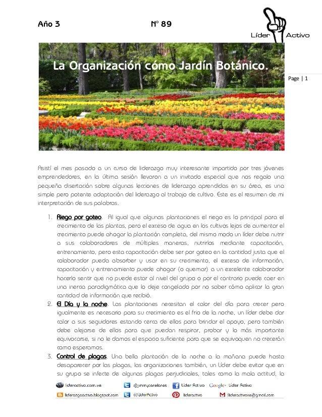 89 la organizaci n como jard n bot nico for Jardin 89
