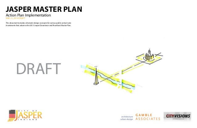 JASPER MASTER PLAN Action Plan Implementation MAY 21, 2014 DRAFT This document includes schematic design concepts for vari...
