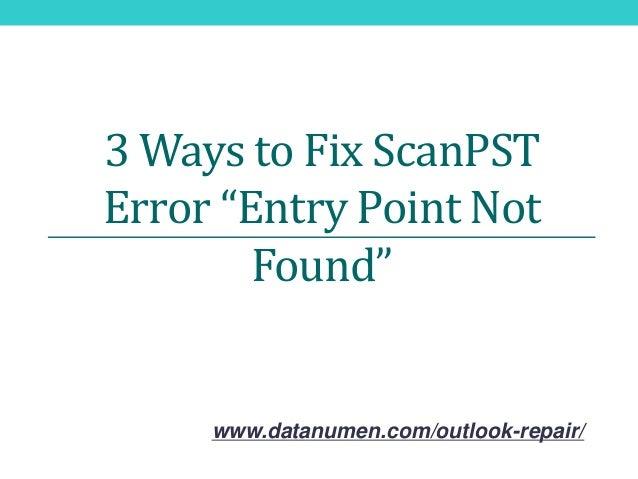 How to fix skyrim error entry point not found