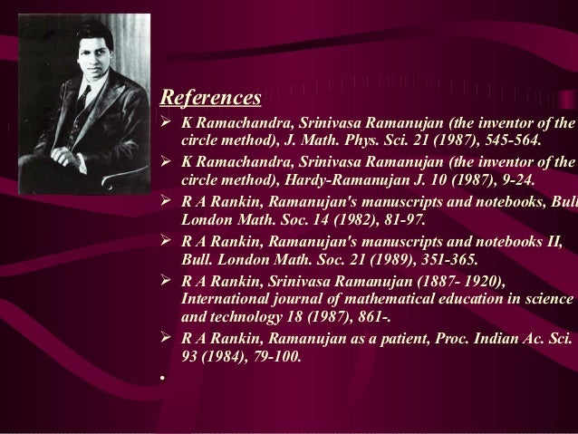 short essay on srinivasa ramanujan