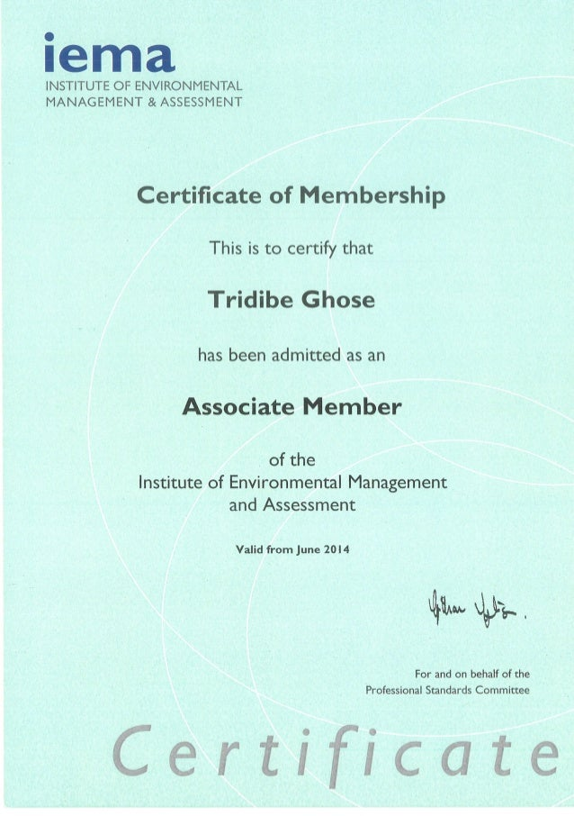 IEMA Institute Of Environmental Management And Assessment