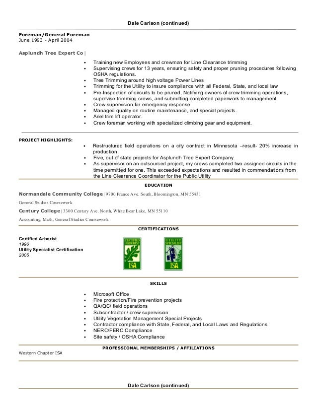 tree trimmer resume exle samudaworth tree services