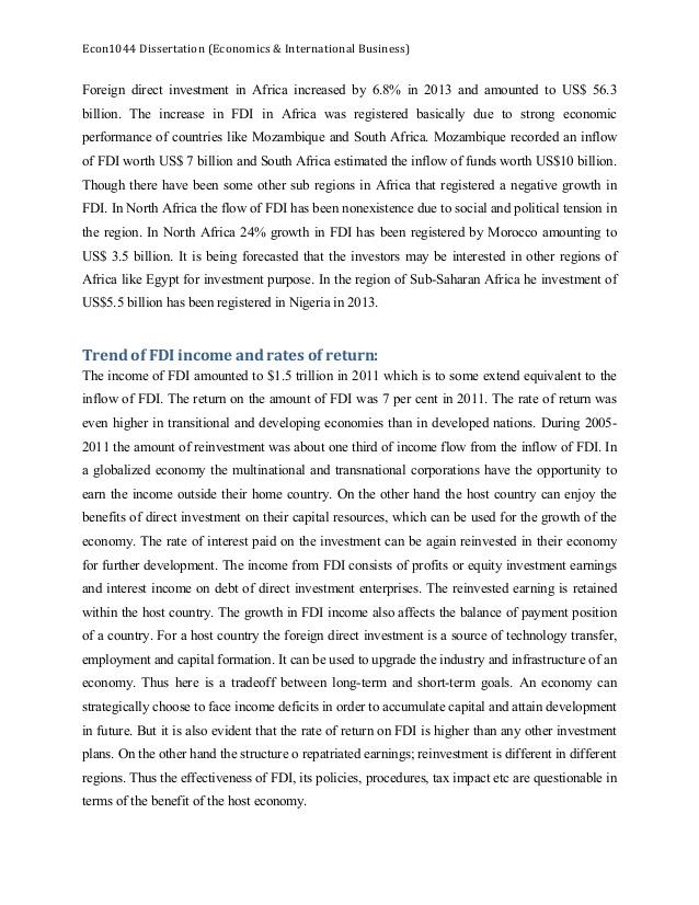 dissertation on international business