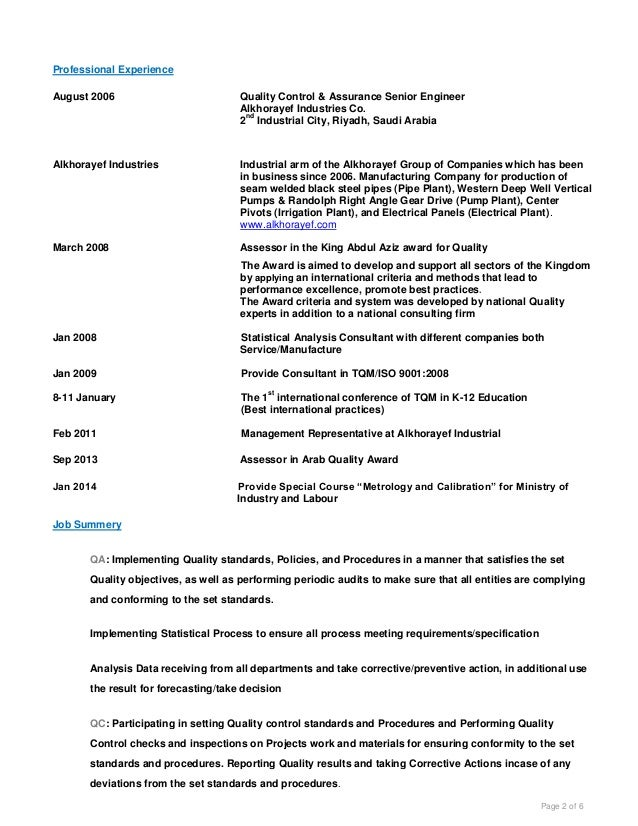 Resume Objective For Quality Assurance Analyst Qa Resume   Qa Resume  Objective