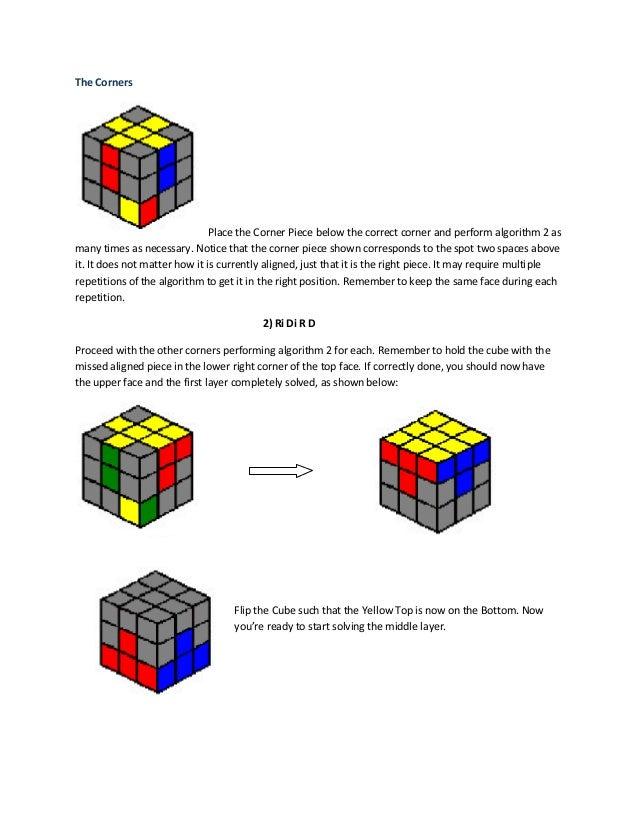 8 Algorithms Rubik U0026 39 S Cube
